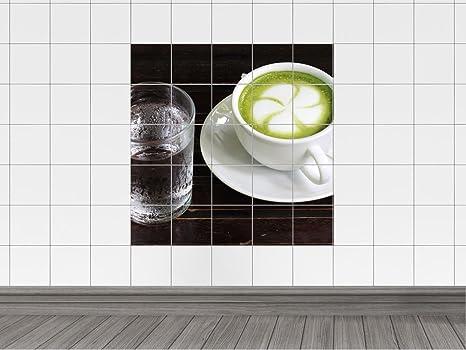 Piastrelle adesivo piastrelle quadro set di piatti fondi acqua