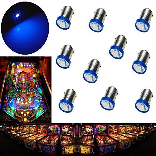 PA 10PCS #1893 #44 #47 #756 #1847 BA9S 1SMD LED Wedge Pinball Machine Light Bulb Blue-6.3V by PA