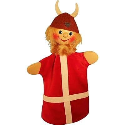 60930 Marionnettes Kasperlepuppe Viking Snorre Kersa Beni avec boule en bois