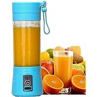 Buyerzone Portable Plastic Fruit Juicer Blender 380 ml Bottle for Shakes and Smoothies (MutiColour)
