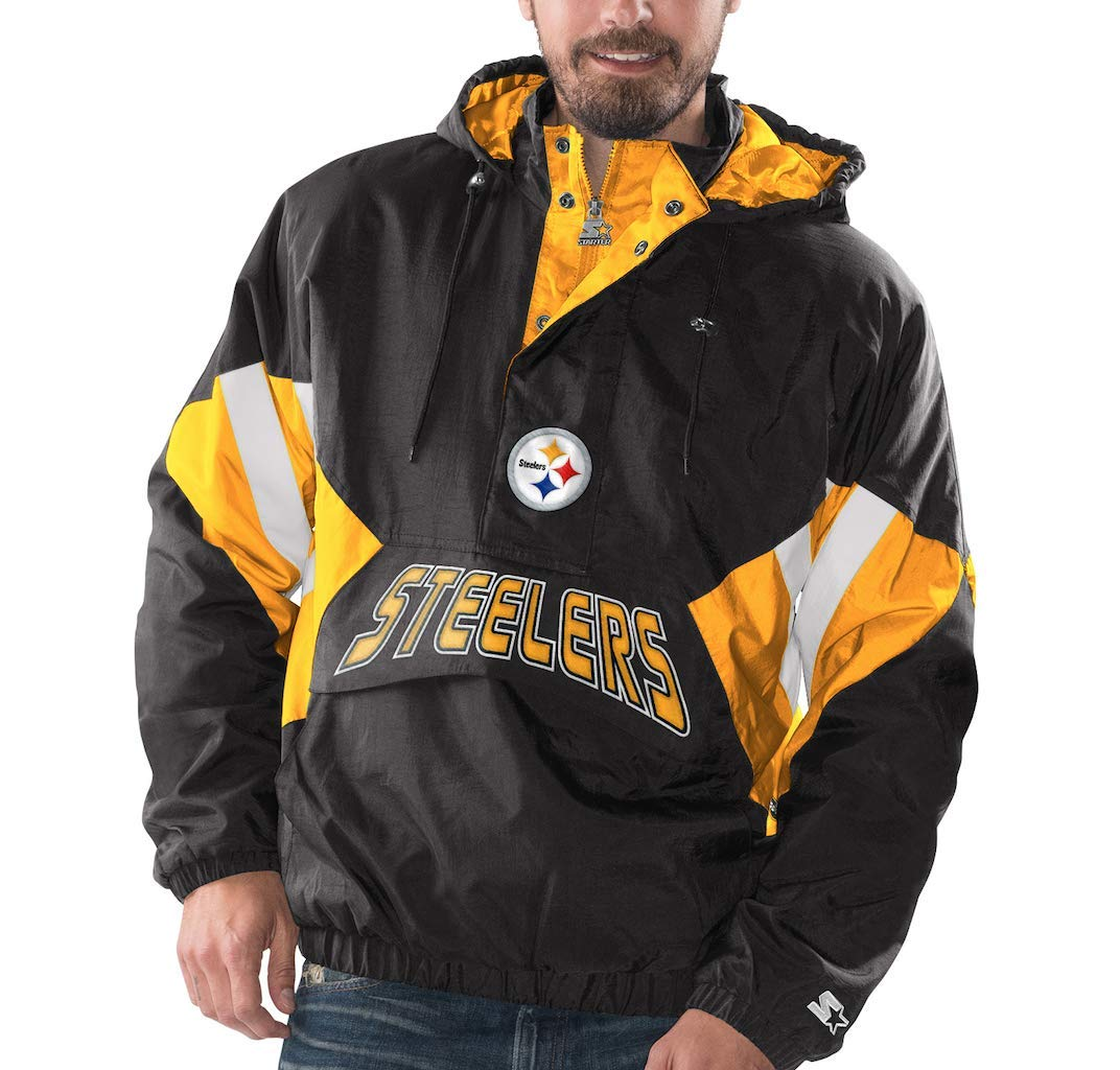 timeless design 971b9 edfcf Amazon.com : Pittsburgh Steelers Starter Vintage Enforcer ...