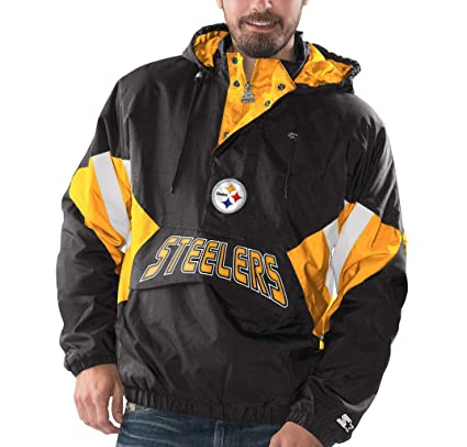 timeless design 451bb fb7a4 Amazon.com : Pittsburgh Steelers Starter Vintage Enforcer ...