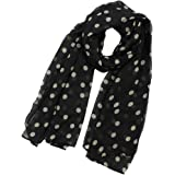 Women's Fashion Polka Dot Printed Chiffon Scarf Long Scarfs Shawl Wraps
