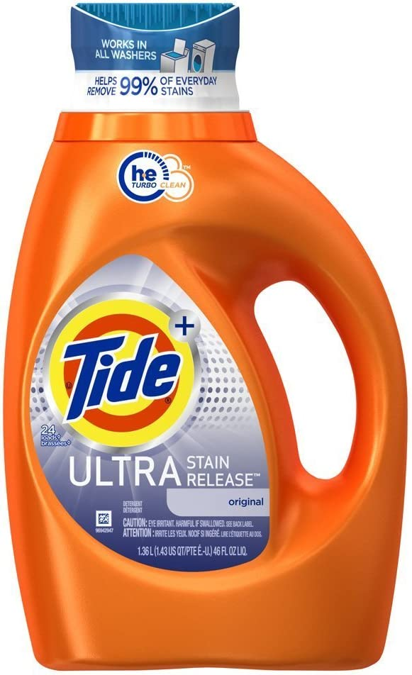 Tide Liquid Laundry Detergent, Ultra Stain Release, 46 Ounce