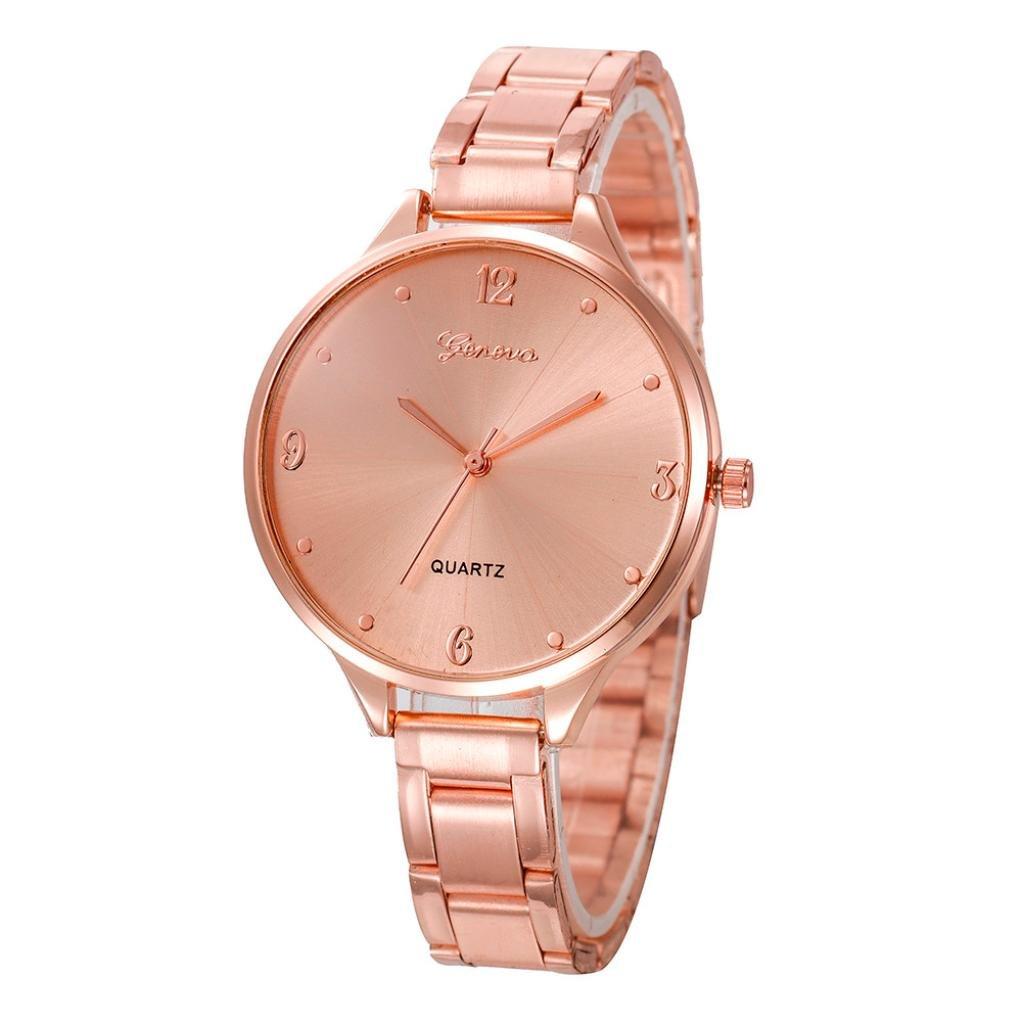 Pocciol Women Love Watch,2018 Lady Women Wrist Watch Quartz Luxury Gold Stainless Steel Band Bracelet Crystal Wathes Clock (Rose Gold)