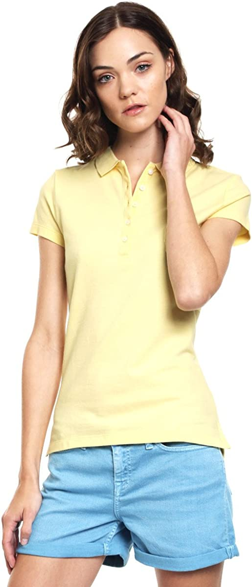 Tommy Hilfiger - Polo - Blusa - para Mujer Amarillo L: Amazon.es ...