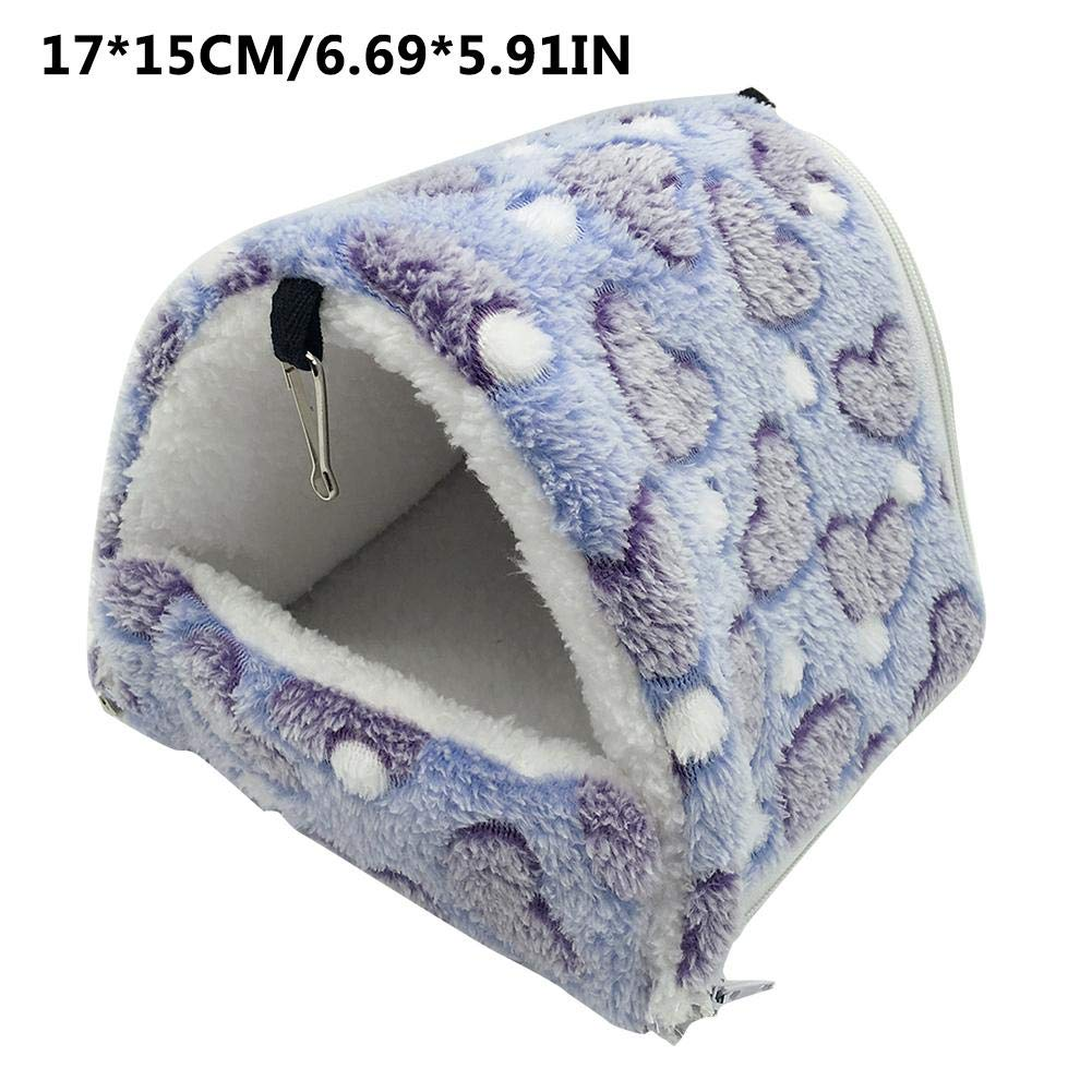 per cincill/à Conigli Purple in Caldo Peluche Piccola Cuccia in Cotone Brillie Amaca per criceti criceti Staccabile 17 * 15cm