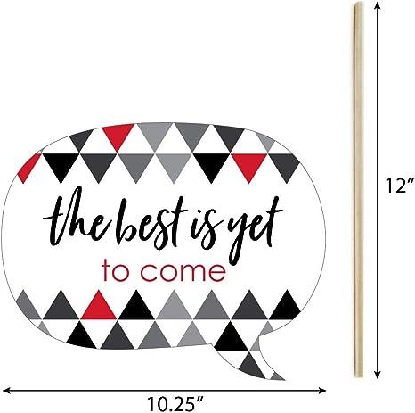 Requisiten Set Für Abschlussfeier Mit Englischer Aufschrift Best Is Yet To Come 2018 20 Stück Red Grad Photo Booth Props Küche Haushalt