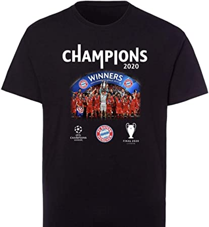 5XL FC Bayern M/ünchen T-Shirt Triple 2020 Champions of Europe Meisterschaft Pokalsieg championsleague Tshirt FCB
