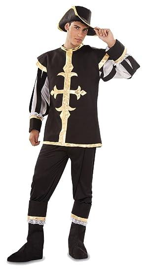 Disfraz de Mosquetero Negro Talla XL: Amazon.es: Juguetes y juegos