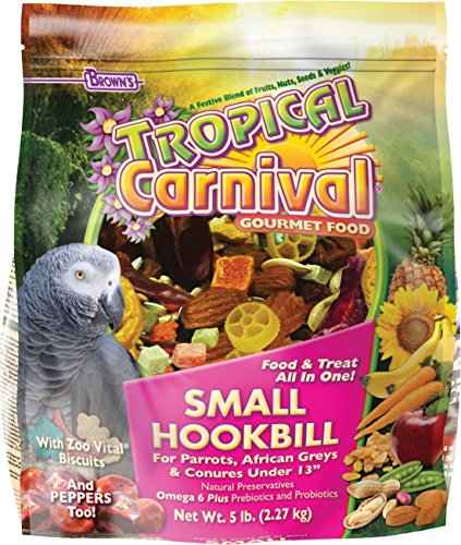[ Global Group ] F.M. Brown's Tropical Carnival Small Hookbill Birds Food 5 Pound (Buy A Hoverboard)