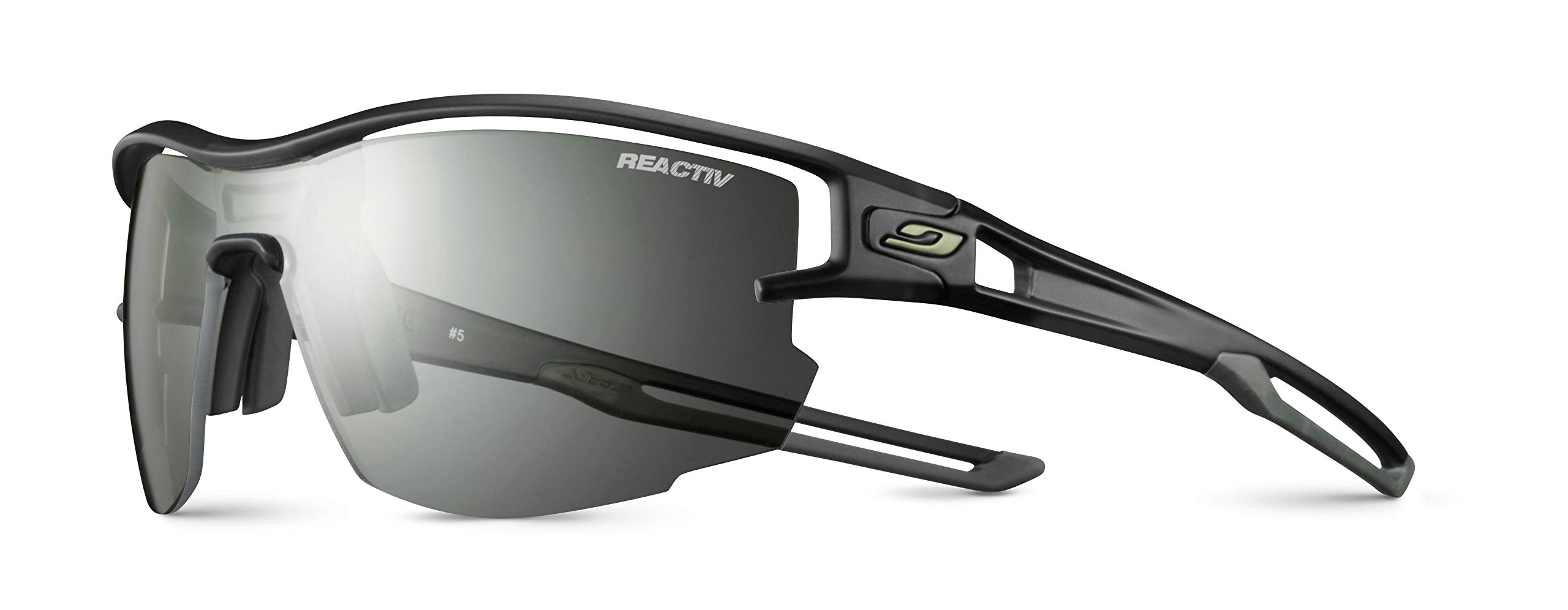 Julbo Aero Performance Sunglasses - Reactiv Performance 0/3 - Translucent Black/Army