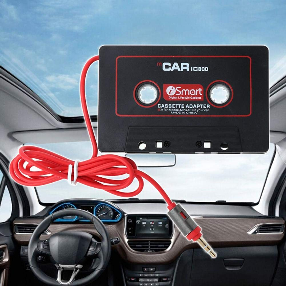 Luerme 3,5-mm-Audio-Musik-Kassette-Player-Player MP3-Player-Konverter Universal Car Audio Travel Cassette Adapter