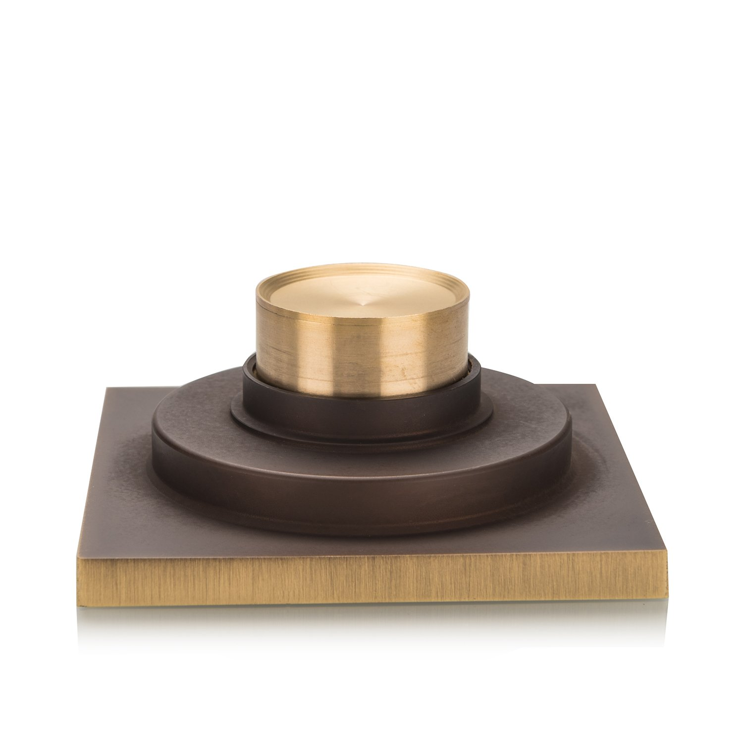 Tinya Copper//Brass Bathroom Floor Drain Square Shower Sink Drain Strainer with Removable Cover FD007 Antique for bathroom and kitchen Carved