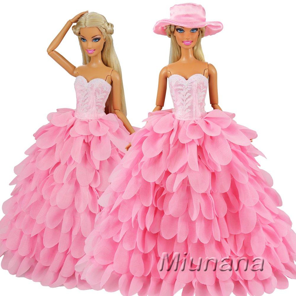 Amazon.es: Miunana 2x Trajes de Vestidos Novia Princesa Juegos Ropa ...