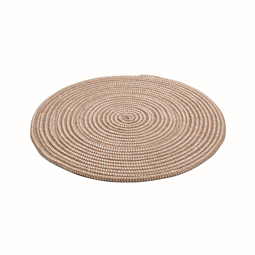 Woven round rug / computer chair pad / gondola mat / living room bedroom study carpets / household carpets ( Color : Camel , Size : 150cm )