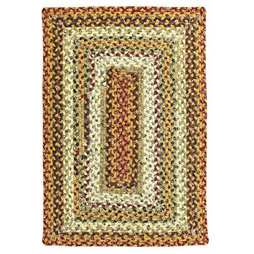 Homespice Rectangular Cotton Braided Rugs, 6-Feet by 9-Feet, Pumpkin Pie
