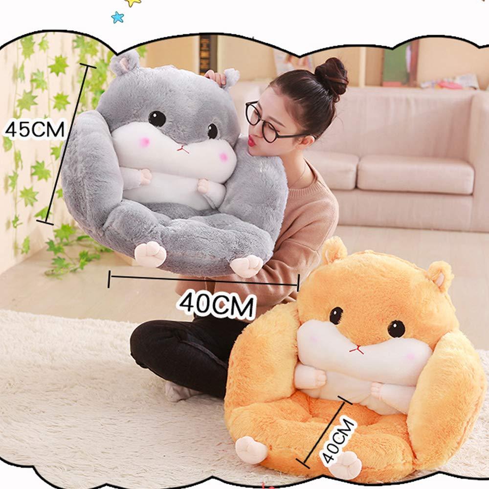 Pink, S:40 * 45CM oamore Comfort Reading Pillow Stuffed Back Pillow Cute Animal Sofa Bed Rest Pillows Lumbar Cushion