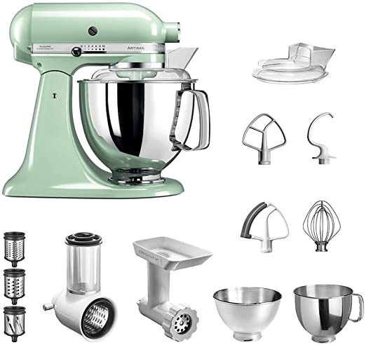 KitchenAid Artisan 5KSM175 Starter - Robot de Cocina (Incluye Cortador de Verduras, picadora de Carne y Accesorios estándar): Amazon.es: Hogar