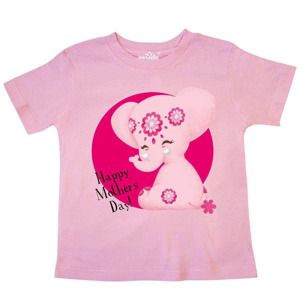 Tiny Tusks inktastic Happy Mothers Day Aditi Pink Elphant Mega Toddler T-Shirt