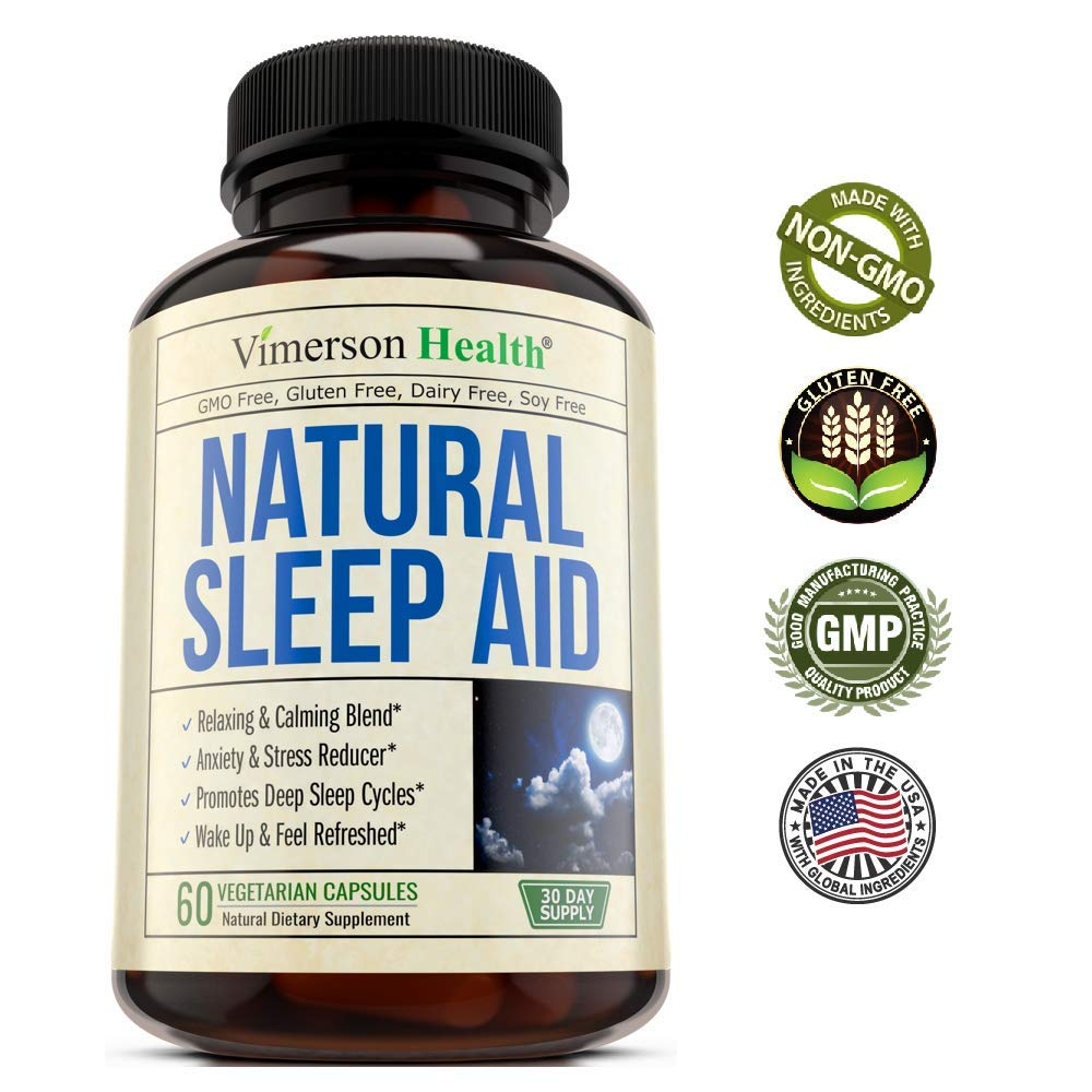 Natural Sleep Aid Pills - with Valerian, Melatonine & Natural Herbs - Premium Quality Sleeping Supplement with Chamomile, Vitamin B6, L-Tryptophan, Ashwagandha, L-Taurine, St. John's Wort, L-Theanine by Vimerson Health (Image #7)