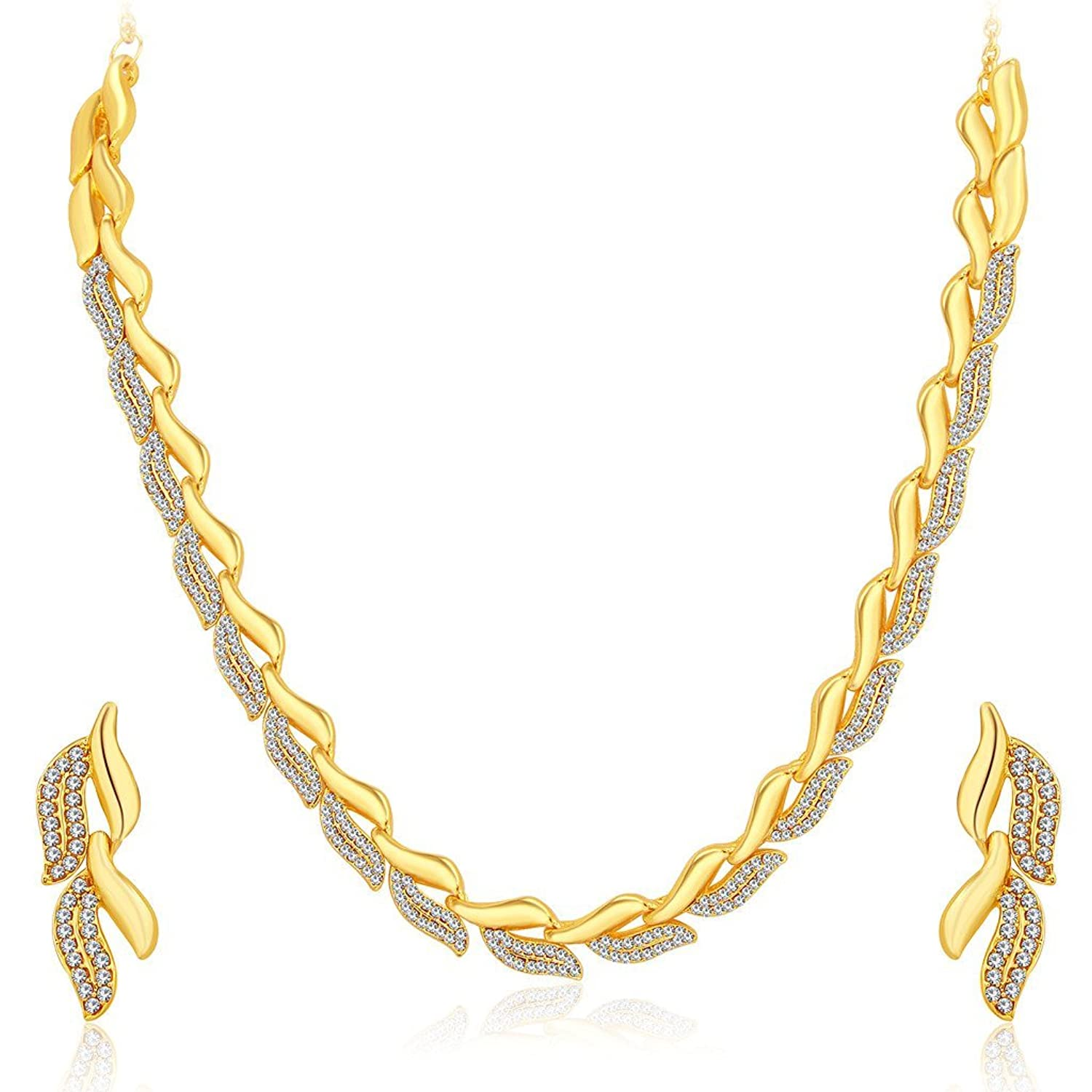 Buy Sukkhi Graceful Gold Plated AD Necklace Set For Women Online ...