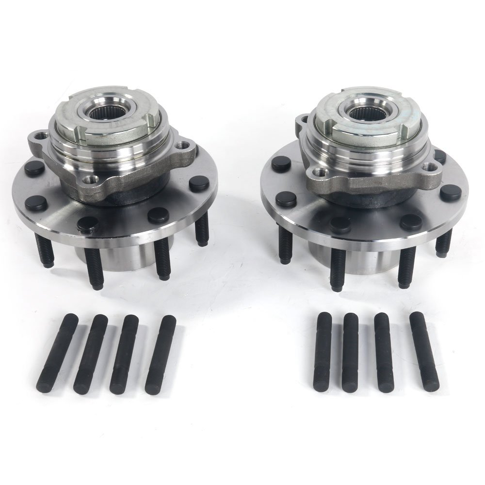 Set of 2 Front Wheel Hub & Bearing Left or Right Pair Set for 99-01 Ford F-250 F-350 Super Duty, 8 Lug 4WD 4x4