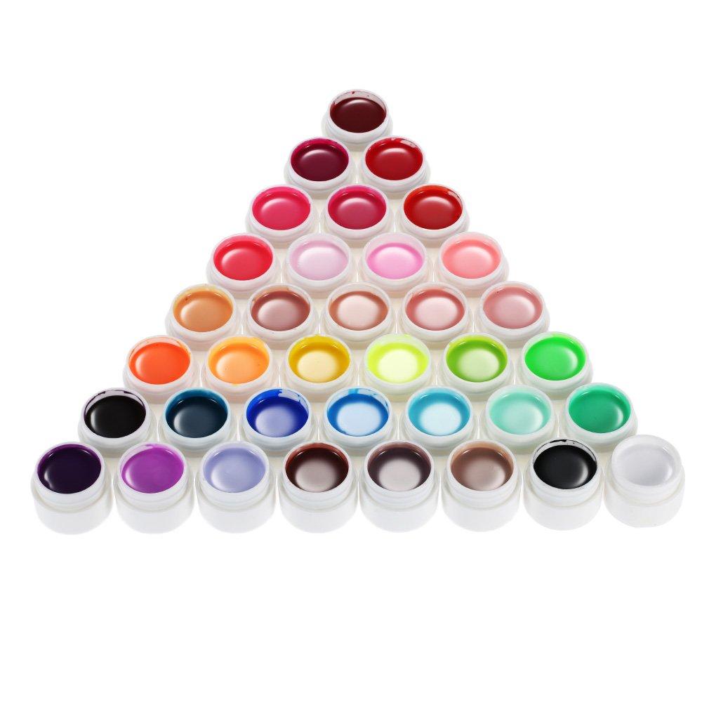 Anself 36 Colors Nail Gel Art Polish Pigment UV Gel Set ... by Anself