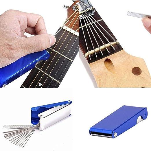 FOONEE - Juego de 13 limas para Puente de Guitarra, para Ukelele ...