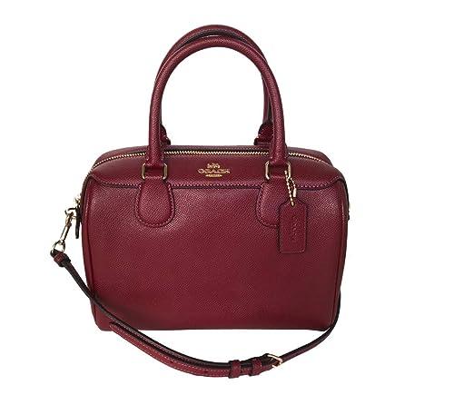 e86969a96dcce Coach Leather Mini Bennett Shoulder Bag Handbag (Cherry): Amazon.co ...