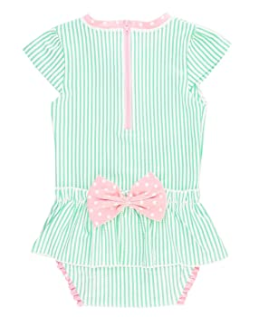 RuffleButts Infant Toddler Girls Baby Swimsuit