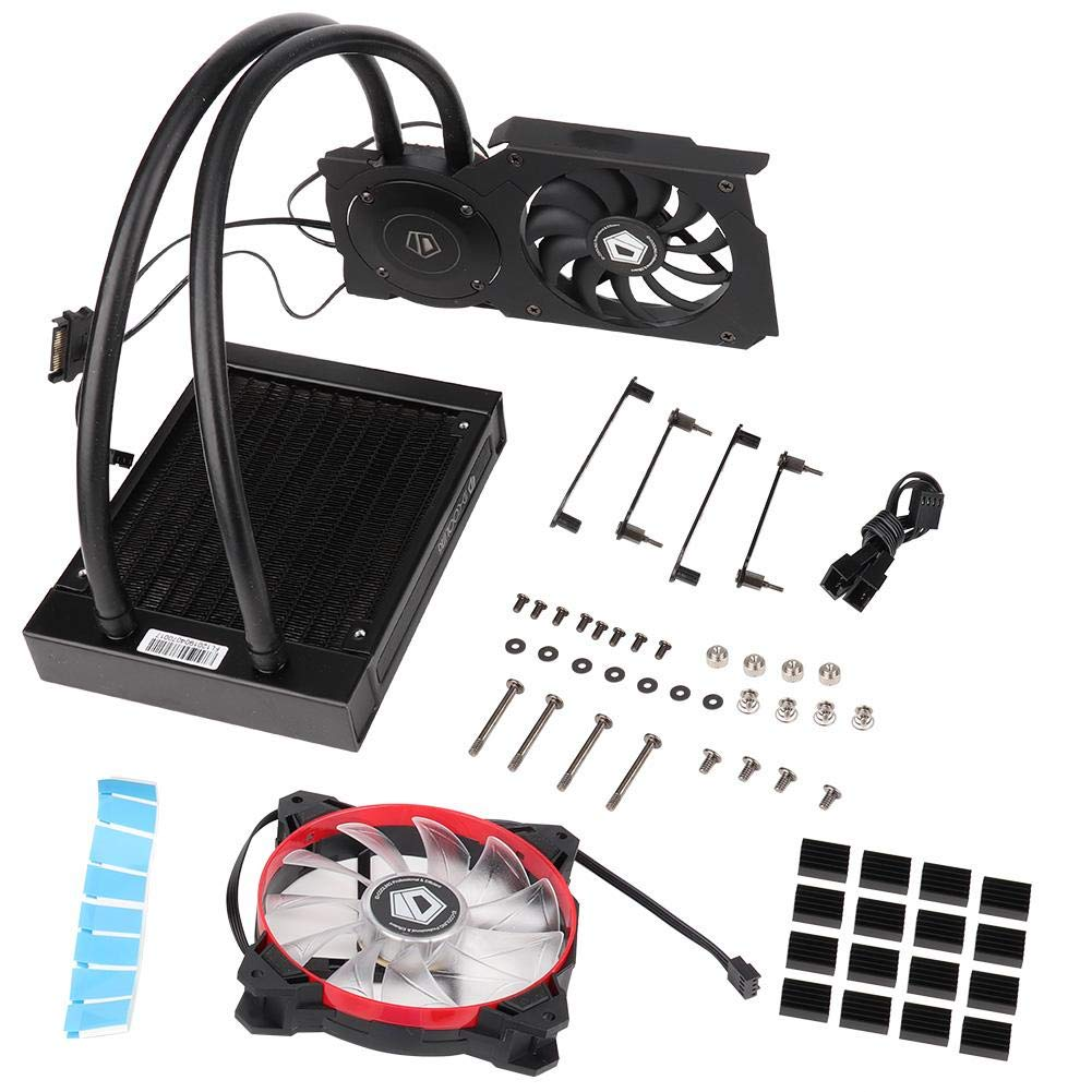 Graphics Card Water Cooler, ID-Cooling Frostflow 120VGA Graphics Card Water Cooler CPU Radiator 12CM Cooling Fan by Cosiki