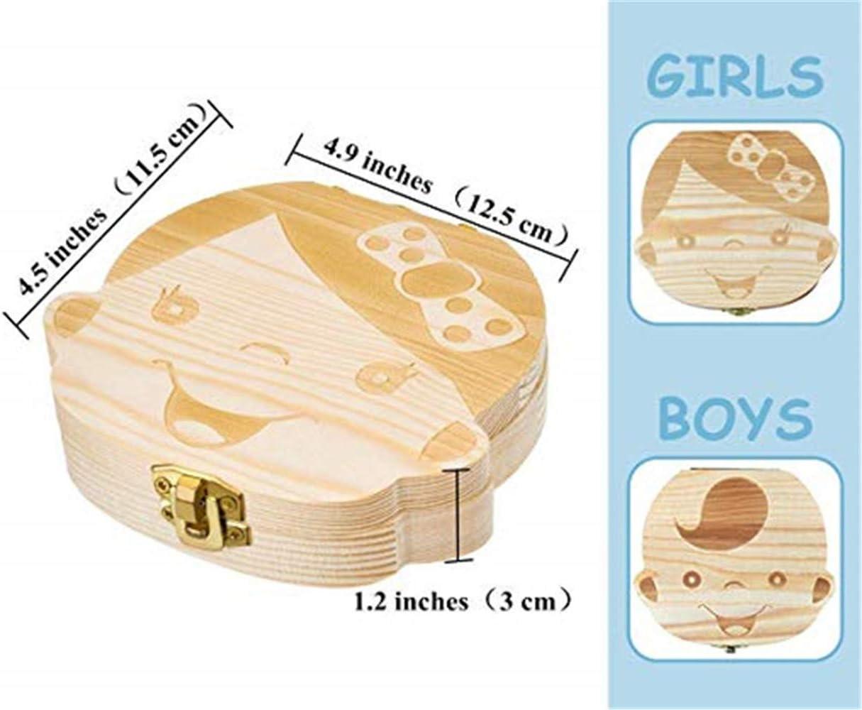 personalizar personalizada beb/é dientes caja Spanish texto beb/é dientes caja Chica MUXItrade save cajas de madera personalizada caja de recuerdos de hoja caduca