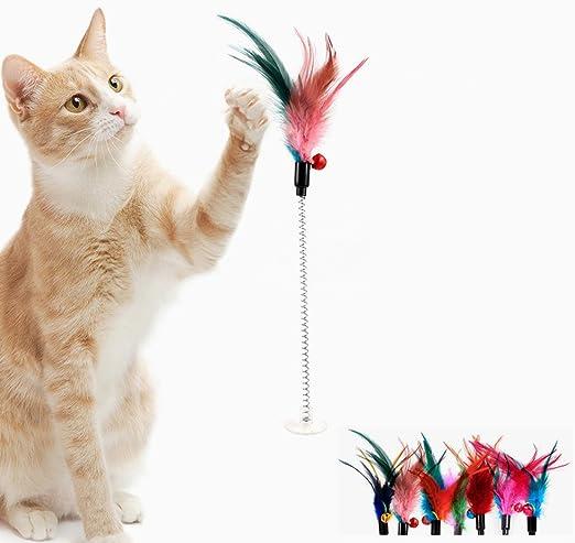 Juguetes de Gato para juego interactivo e independiente-Elige entre 5 estilos de juguete de la diversión
