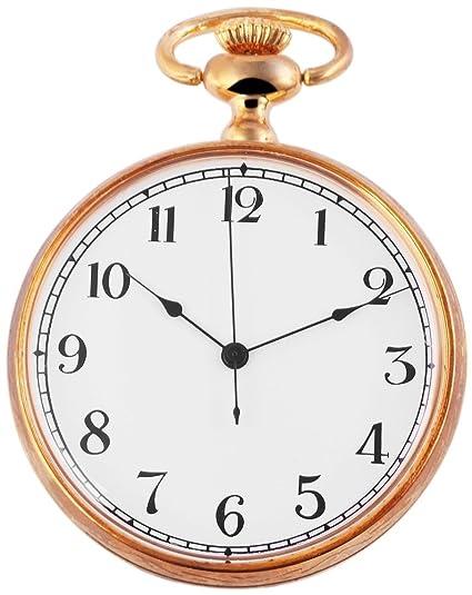Analog Reloj de bolsillo con mecanismo de cuarzo 485702000006 Oro Coloreado Carcasa en tamaño 46 mm x 14 mm con cristal mineral: Amazon.es: Relojes