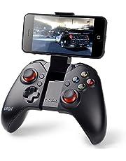Gamepad Android, PowerLead Mando de Juego inalámbrico portátil Bluetooth Joystick, Compatible con teléfono, PC, PS3, Android, Vista, TV Box