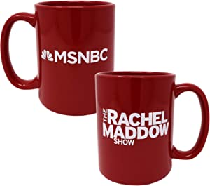 The Rachel Maddow Show Logo Ceramic Mug, Red 15 oz - Official Mug As Seen On MSNBC