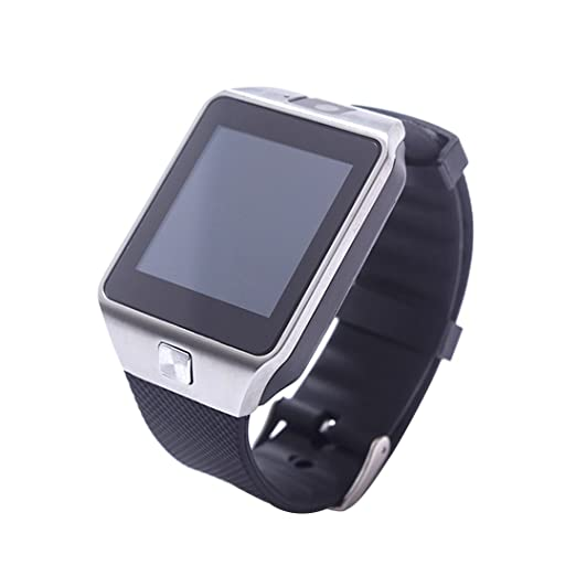 Reloj de pulsera inteligente con pantalla táctil, Bluetooth, teléfono, cámara, ranura para tarjeta SIM, compatible con Android o iOS, negro: Amazon.es: ...