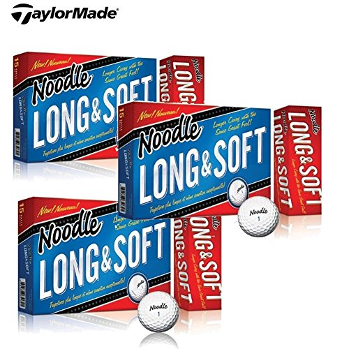 3 Boxes TaylorMade Noodle Long & Soft Golf Ball, 15-Ball ...