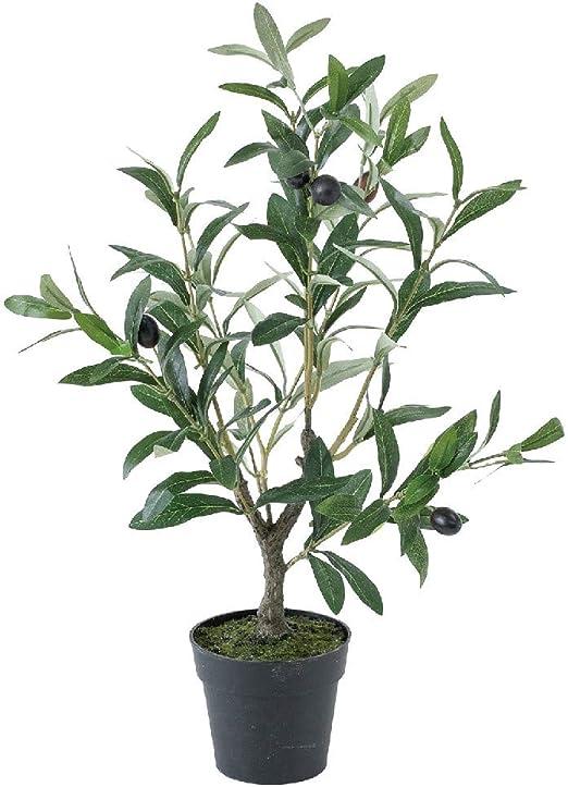 NEW REALISTIC ARTIFICIAL FAKE SILK OLIVE TREE w// WHITE VASE POT ~ SET OF 2 TREES