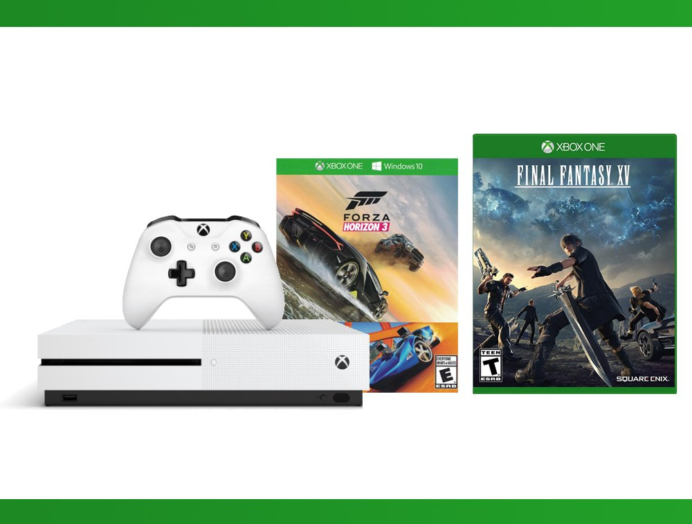 Xbox One S 500GB Console - Forza Horizon 3 Hot Wheels Console Bundle + Final Fantasy XV + NBA 2K17 Bundle ( 3 - Items )