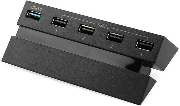SANON Hub de Expansión Ps4 USB de 5 Puertos 3. 0 2. 0 Adaptador de ...