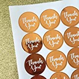 Little Twinkle Toes Rose Gold/Copper Thank You Stickers - Party Deco Accessories. Quantities of x35, x70 x105 (70 Stickers)