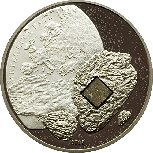 2008 Cook Islands - Pultusk Meteorite - 25g - Silver Coin - $5 - Uncirculated Piece Coin 5