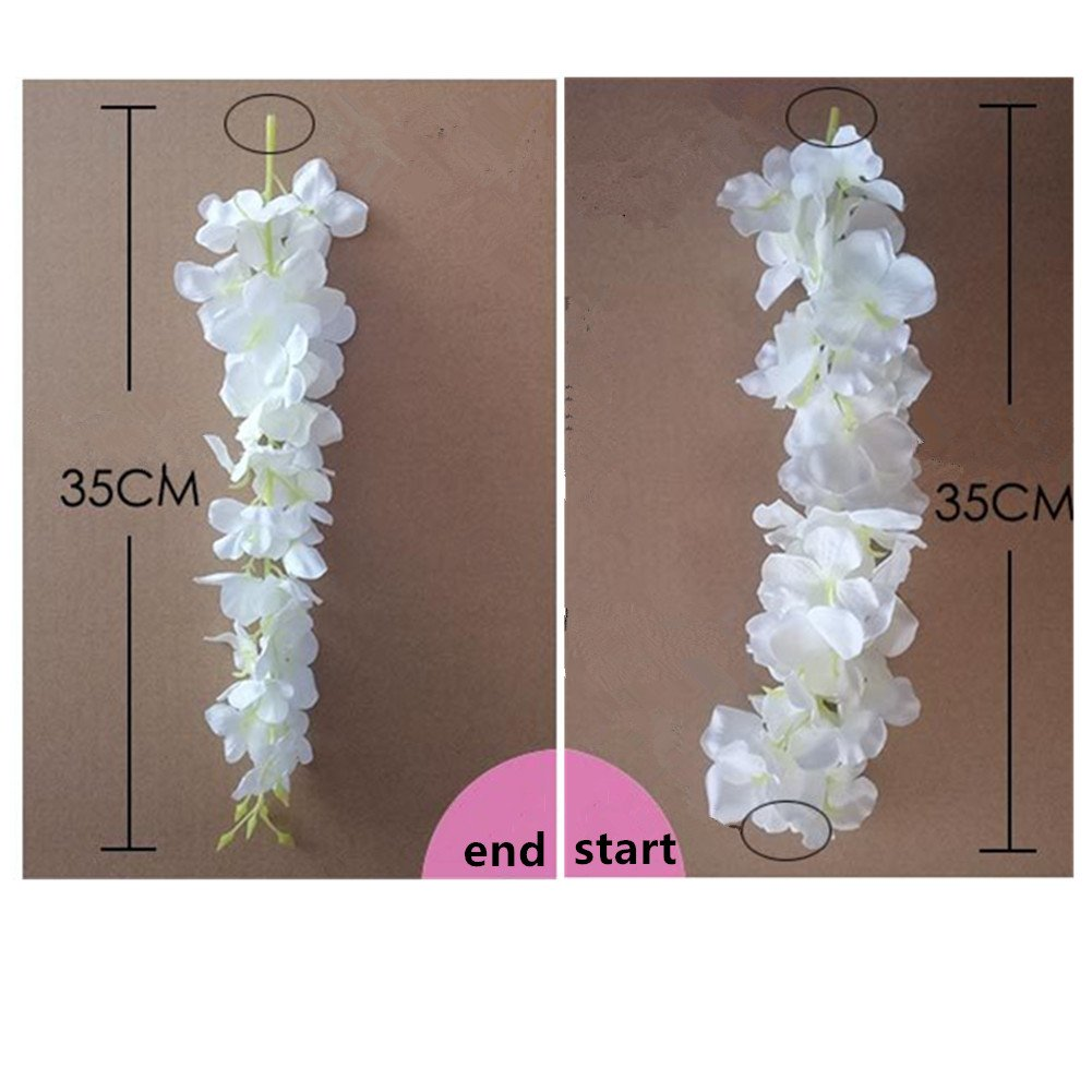 Amazon 30 piece artificial flowers silk wisteria garland amazon 30 piece artificial flowers silk wisteria garland dearhouse artificial wisteria vine ratta silk hanging flower for home garden outdoor ceremony izmirmasajfo