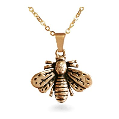Amazon antiqued matte finish napoleonic bumble bee pendant antiqued matte finish napoleonic bumble bee pendant necklace chain 18quot pricegems museum reproduction aloadofball Gallery