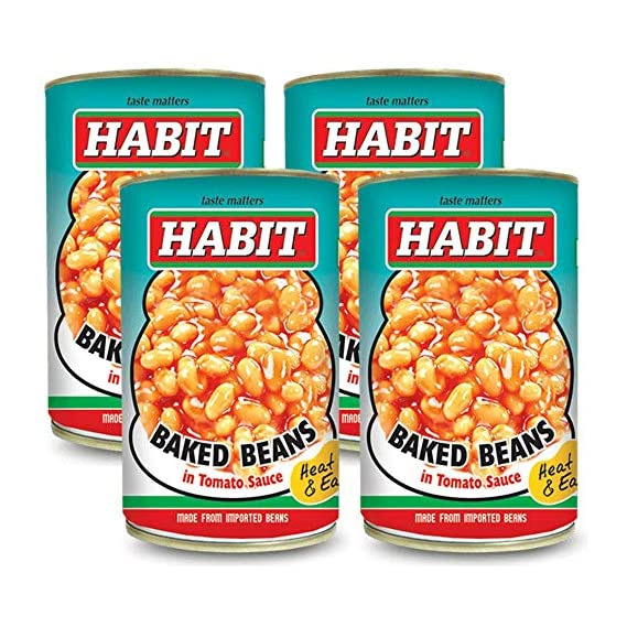 Habit Baked Beans in Tomato Sauce, 450 gm (Pack of 4)