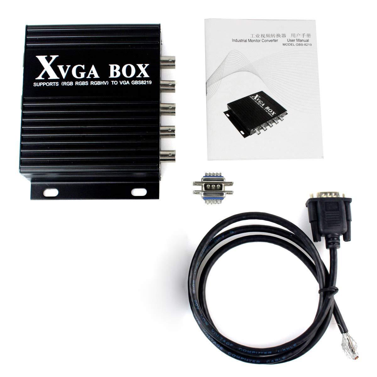 GBS 8219 XVGA Box CGA EGA RGB RGBS RGBHV to VGA Monitor Video Converter US Ship