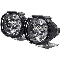 Flushzing 2pcs / set Motorcycle Externe LED Spotlight 6 LED 8W LED-licht 1000LM 6500K Light Replacement Kit High…
