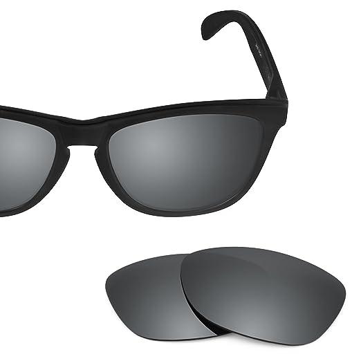 9e73167d4ef Revant Polarized Replacement Lenses for Oakley Frogskins Elite Black Chrome  MirrorShield